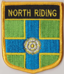 Yorkshire North Riding Embroidered Flag Patch, style 07.